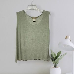 TravelSmith VTG stretchy light green sleeves top L